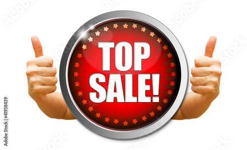 Top Sale! Button, Icon