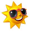 Leinwanddruck Bild - Smiling Summer Sun Character