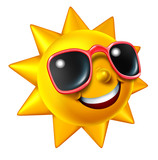 Fototapety Smiling Summer Sun Character