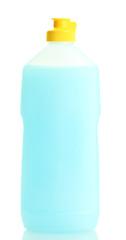bottle of dishwashing liquid isolated on white.