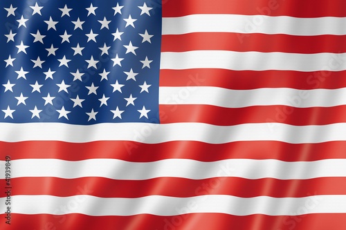 Leinwanddruck Bild United States flag