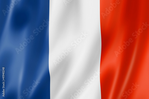 Leinwanddruck Bild French flag