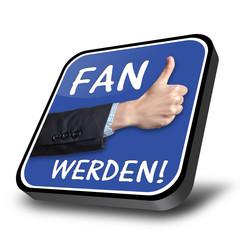 Fan werden - 3D button