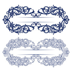antique retro pattern border