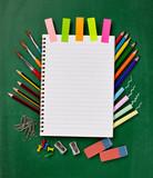 Fototapety school education supplies items