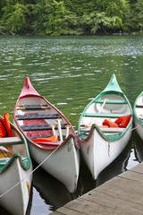 Kajaks, Seenlandschaft Uckermark, Ostdeutschland