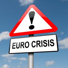 Euro crisis concept.