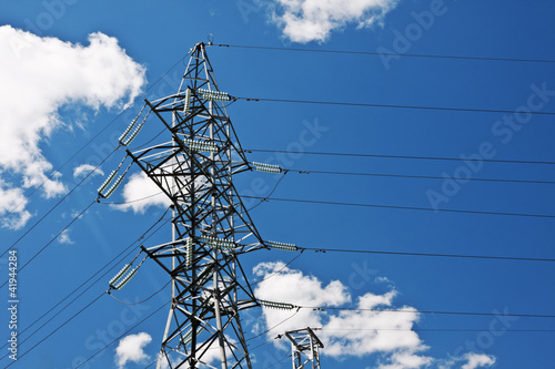 Electric high voltage post