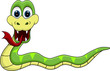 funny snake cartoon