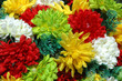 composition of colorful  the artificial flower decorations