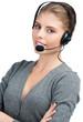 Female call center employee