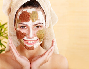 Clay facial mask.