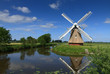 Windmill in Dutch polder