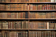 canvas print picture - Antique book racks in an old library in Vienna