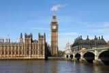 Westminster Bridge with Big Ben in London - 41947874