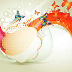 Colorful background with butterfly