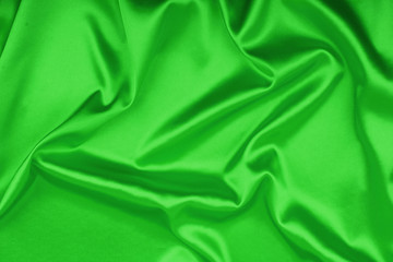 Smooth elegant green silk background, can use as background