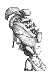 Extravagant Hair 1 - 18th century
