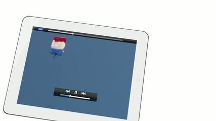 vidéo prachutistes et tablette