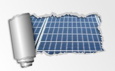 Papierrolle Solarmodul