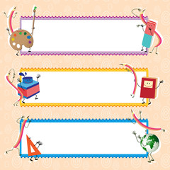 Back to school banners, educational theme