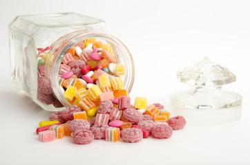 Bonbonglas mit Süßigkeiten