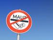 Schild: Gegen Maut