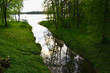 Stream flow in lake Galve. reflections on water - 41951220