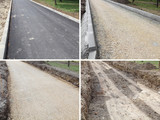 Phases of making road, ground, gravel and asphalt