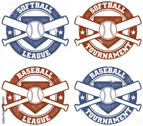 Vintage Style Baseball or Softball Graphics