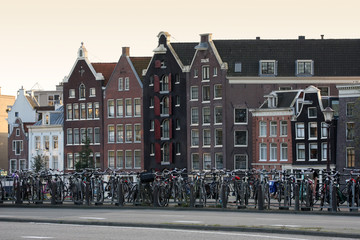 Amsterdam. street, home and bikes
