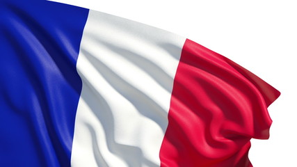 Waving France flag