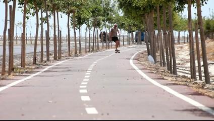 skateboarder man speed