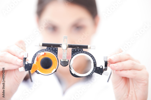 Doctor In Ophthalmology Clinic