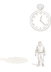 uomo e orologio