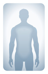 Man Silhouette isolated on a white background