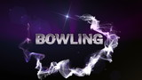 BOWLING Text in Particle (Double Version) Blue - HD1080