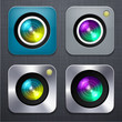 Square modern camera app icons.