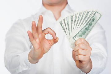 Men with dollars