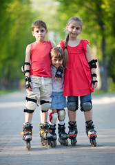 Happy rollerbladers
