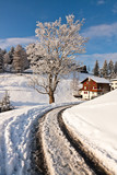 Winterlandschaft in Stoos