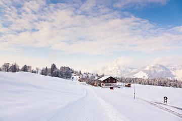 Winterlandschaft in Stoos