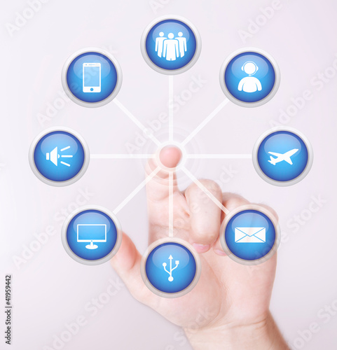 touch screen multimedia icons