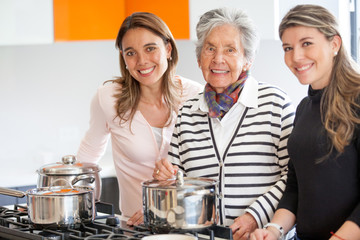 Women cooking at home