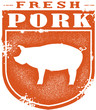 Vintage Fresh Pork Stamp