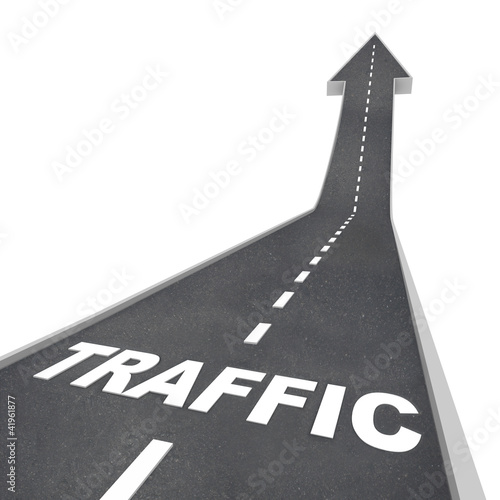 Traffic Rising Up Arrow Road Web Transportation