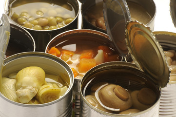 罐头食品 Alimentos enlatados Canned foods