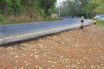 road curves.