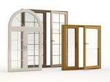 wood and plastic windows - 41964073