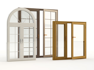 wood and plastic windows